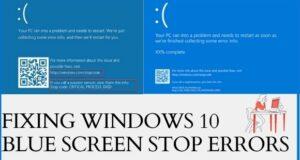 Fixing Windows10 Blue Screen Stop Errors